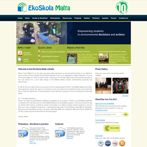 EkoSkola web development / web design