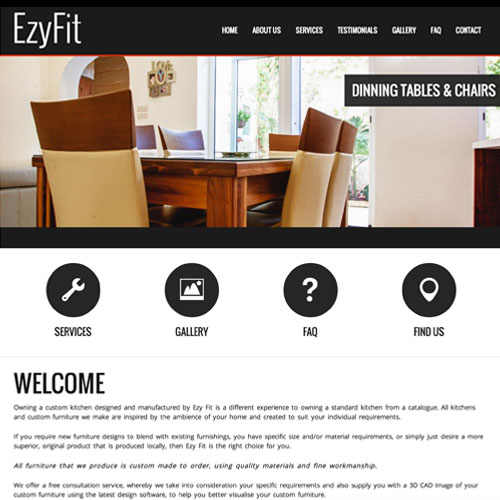 Ezy Fit web development