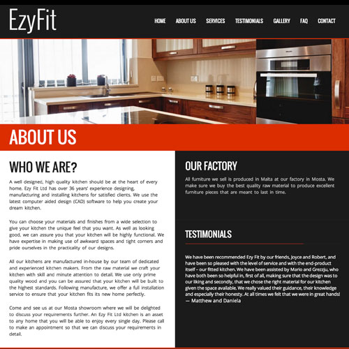 Ezy Fit Wordpress web developer