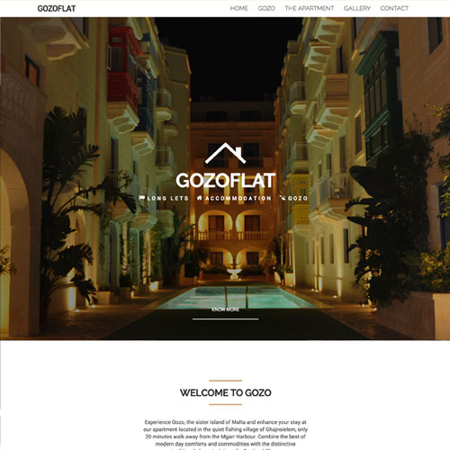 Gozo Flat web development / web design