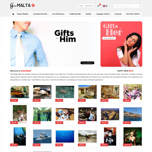Great Malta web development / web design
