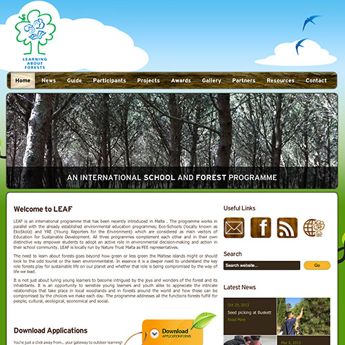 LEAF web development / web design