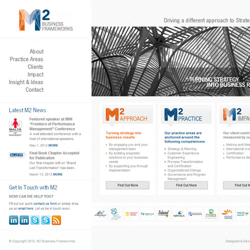 M2 Business Frameworks web development