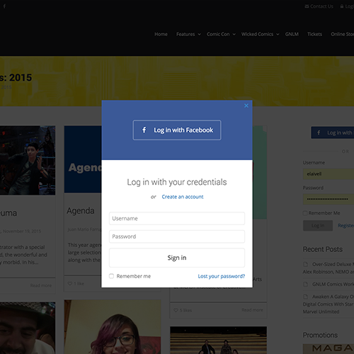 Malta Comic Con membership website user login